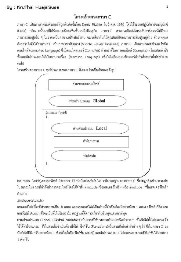 โครงสร้างของภาษา C_Page_01