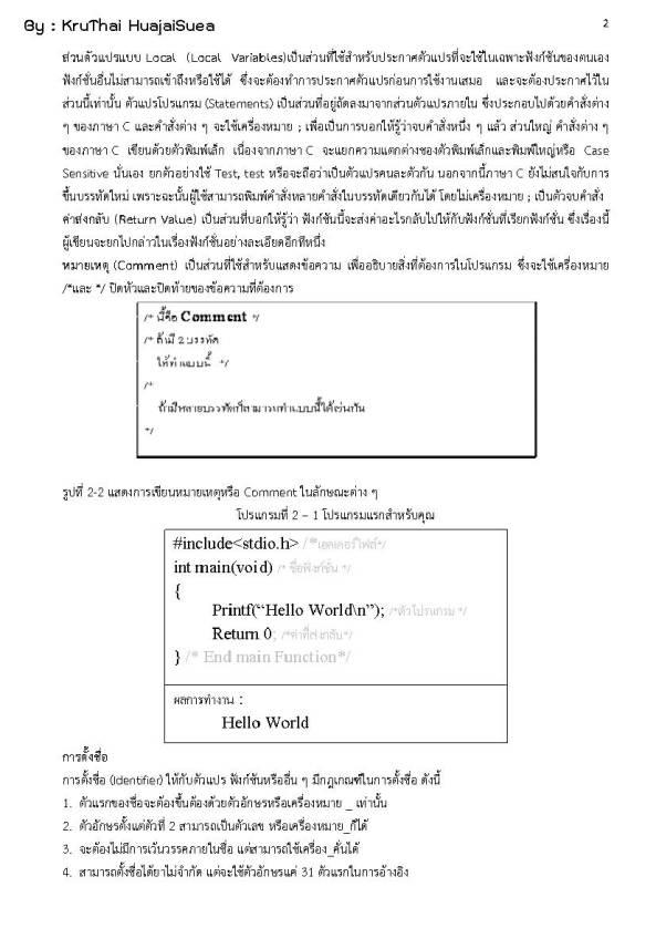 โครงสร้างของภาษา C_Page_02